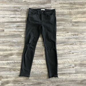 """Madewell Black 9"""" High Rise Skinny Jeans size 29"""
